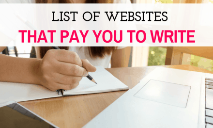 Websites that will pay you to write as a newbie