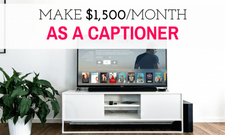 Make money captioning at home