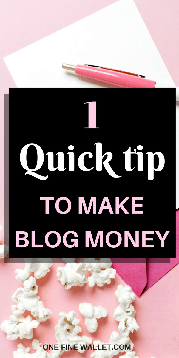 One quick trick to make money blogging for beginners using pinterest marketing!