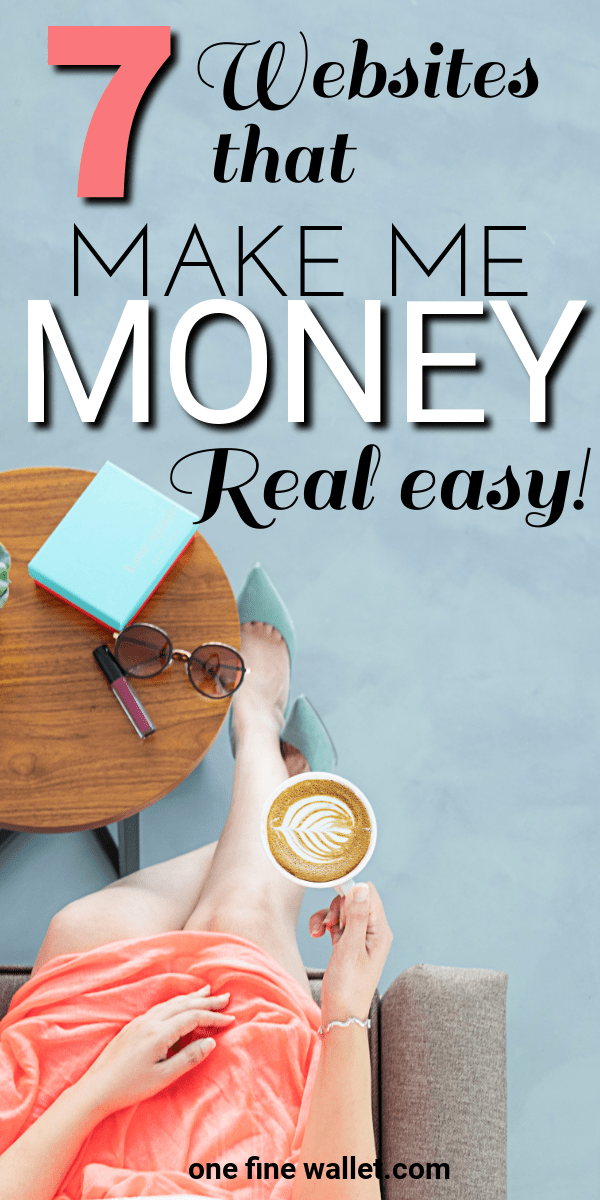 Want to make money fast? Here are some legit sites that will help you make money from home in your spare time! #money #makemoneyonline #sidehustle