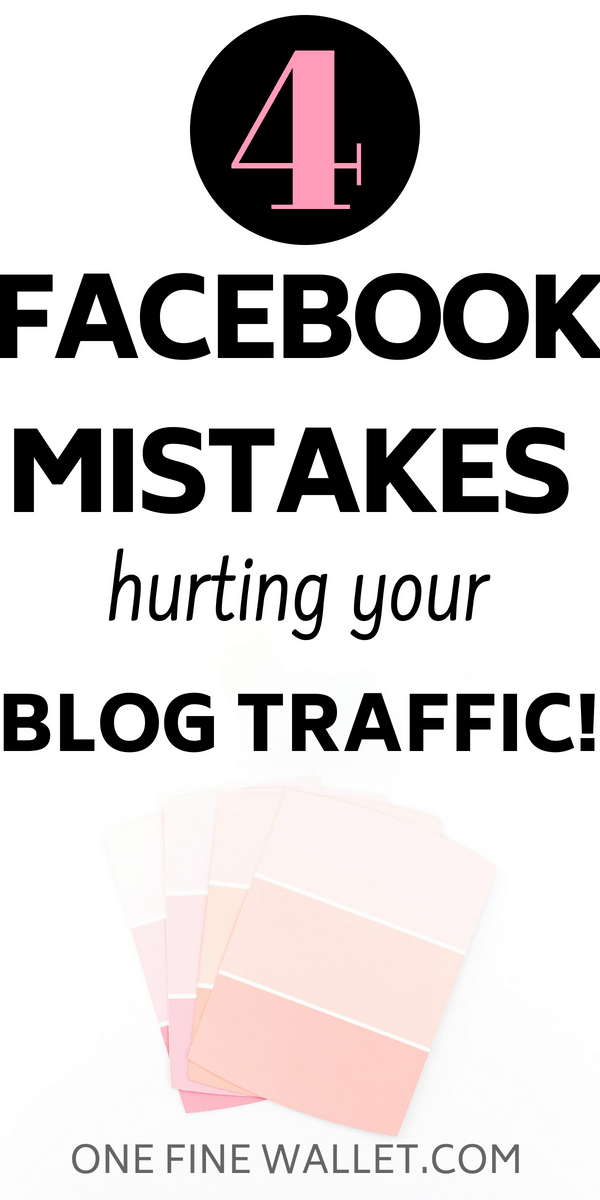 We all love promoting our post in facebook groups. But here are 4 big mistakes that are hurting your blog traffic #blogtraffic #facebooktips #blogging
