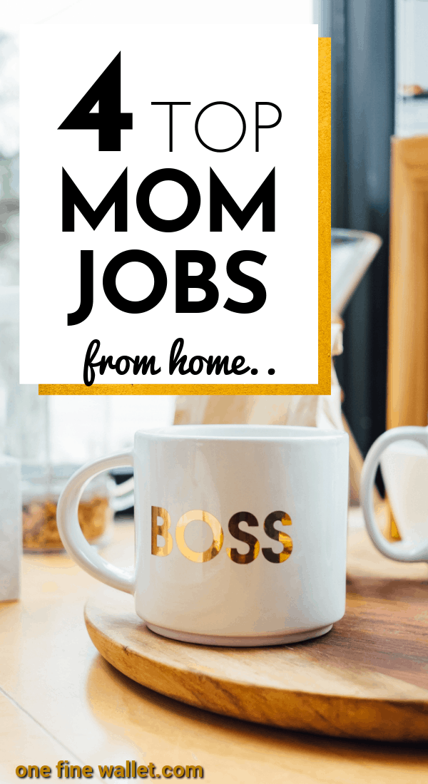 4 best online jobs that are fully flexible to suit stay at home moms. Try these work at home jobs to help you make money online fast. #workfromhome #onlinejobs #makemoneyonline #money #sidehustle #makemoney #earnmoneyonline #makemoneyfast