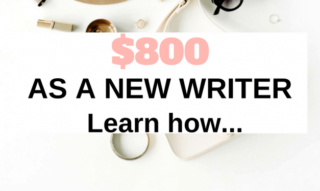 8 things I did to earn $800 in my first month of becoming a freelance writer