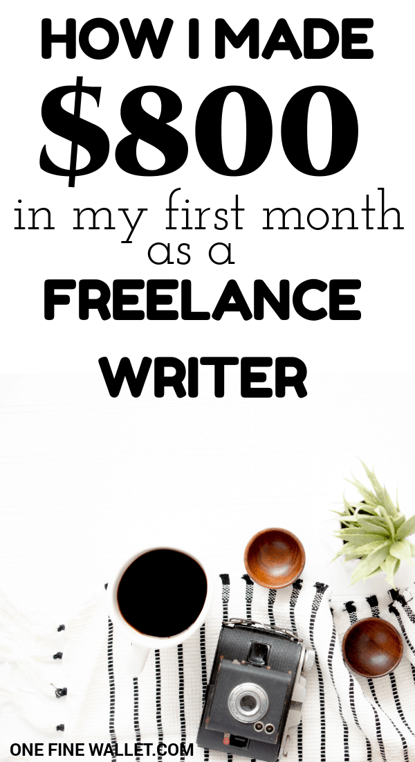 Making money freelance writing can be the perfect online job for beginners. Read the exact steps that made me my first $800 #freelance #makemoneyonline #makemoneyfast