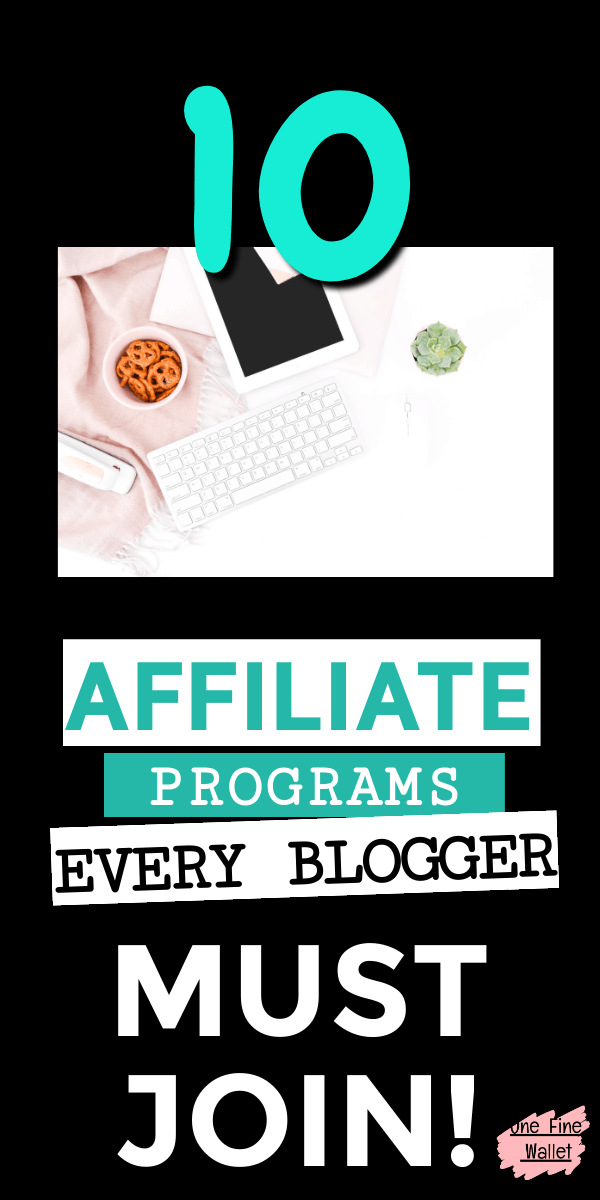 Here are 10 EASY and best affiliate programs to make money as a beginner blogger. You can make money on a small blog, using smart strategies #blogging #makemoneyblogging #blogtips #affiliateprograms #affiliatemarketing