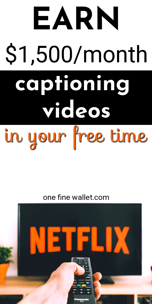 An easy and fun work from home job is video captioning. This flexible online job can earn you upto $1.500 a month for few minutes of work #workfromhome #captions #onlinejob #extracash #makemoneyonline