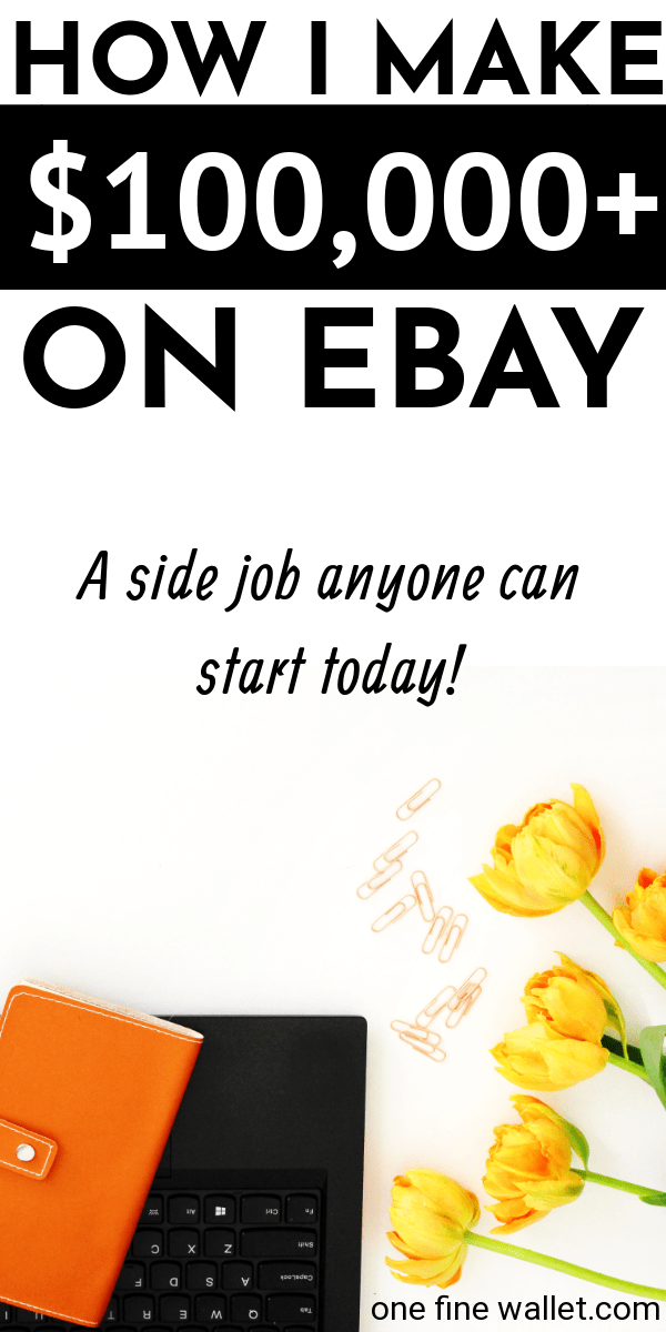 Make extra cash from home with this side hustle that can earn you a full time income. An online job that pay you to sell things on ebay #makemoney #makemoneyonline #workfromhome #job