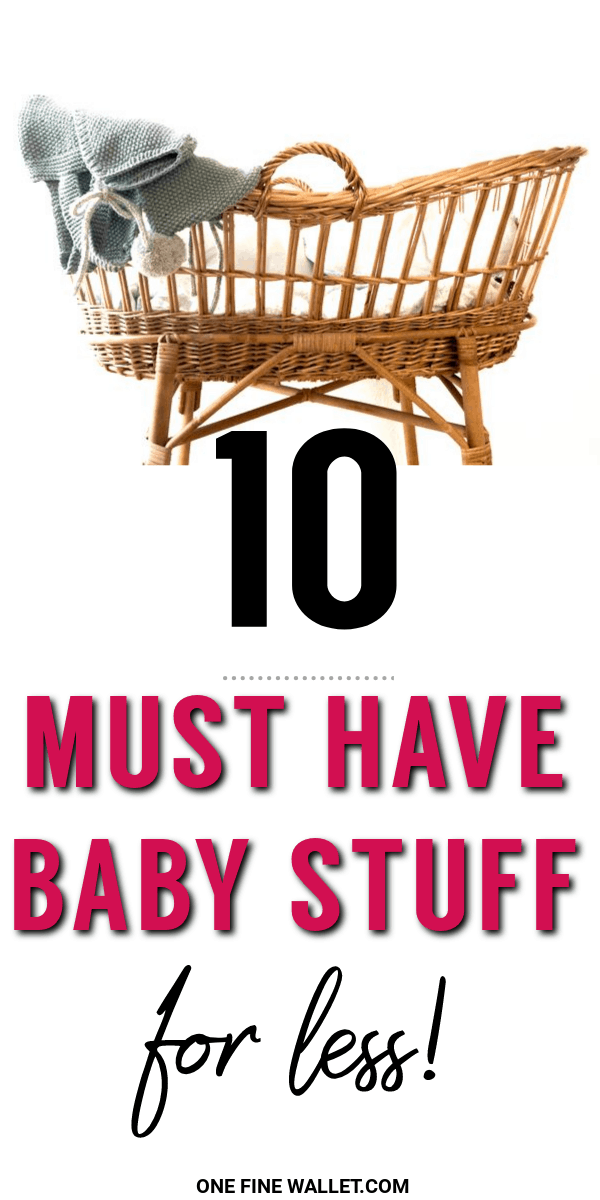 Learn how to get 10 must have baby stuff for a lot less! This is perfect for new moms who are looking to for some baby budget ideas