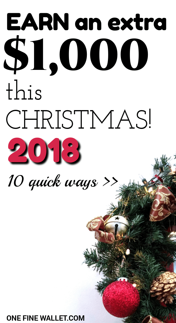 Need to make extra money for christmas. Here are 10 creative ways to make money fast so you can have a debt free christmas. #moneytips #christmas #budget #howtomakemoney #makemoneyfast #makemoneyonline