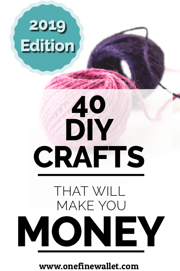 Here are new hot crafts to make and sell in 2019. They are cheap and mess-free crafts that will make you money. Are you ready? #crafts #makemoneyfromhome #howtomakemoney #makemoney #freeclasses #diy #sidehustles