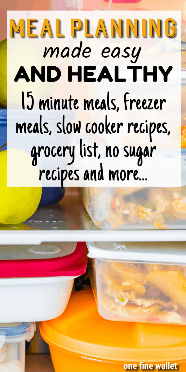 In search of a meal plan on a budget? Here is how to do a healthy weekly meal planning perfect for large families with - 15 minute recipes, slow cooker recipes, freezer meals and no sugar no flour recipes. #mealplan #mealplanning