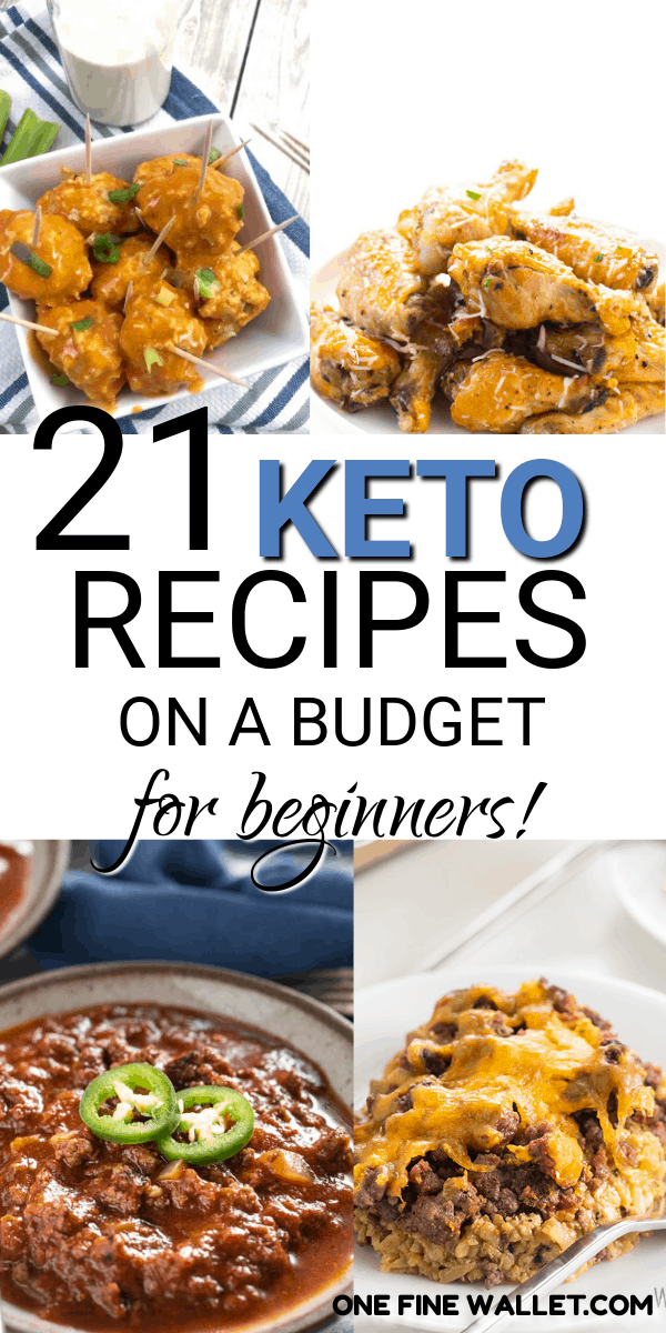 Here is a list of 21 cheap keto recipes on a budget. These low carb ketogenic dinner recipe ideas are great for those that don't want to break the budget. #keto #ketorecipes #ketodinner
