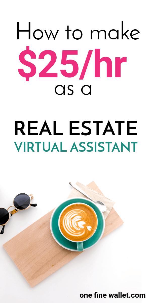 Want to make money as a virtual assistant? This is the perfect side huslte for those looking to make money from home. Become a real estate virtual assistant and make up to $25/hour.