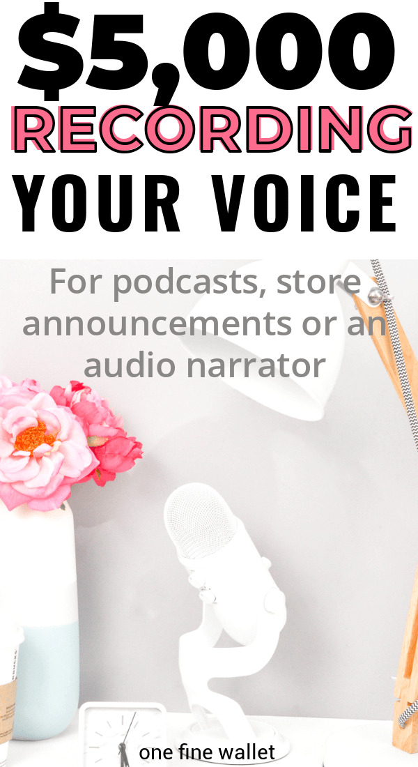 Start a job as a voice over artist and make a full time income from home. Voice over jobs can pay up to $5,000 a month