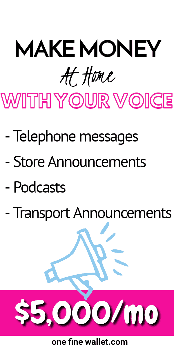 Learn how to become a voice actor and make money from home lending your voice. You can earn up to $5,000 a month as a voice artist.