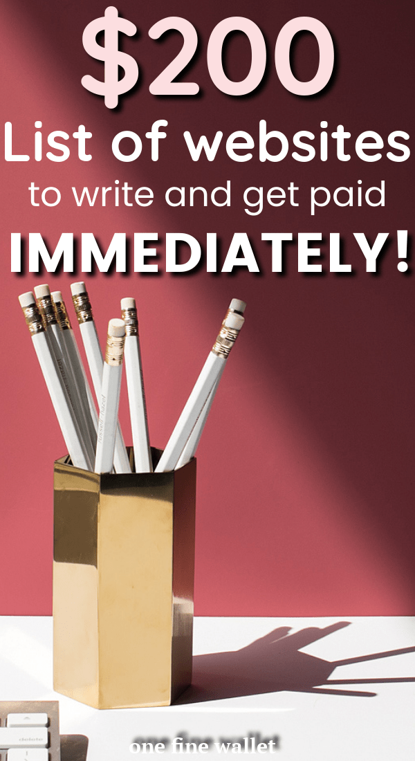 A list of 16 websites that pay you to write per post - up to $200. Perfect for beginner freelance writers. Get paid to write!