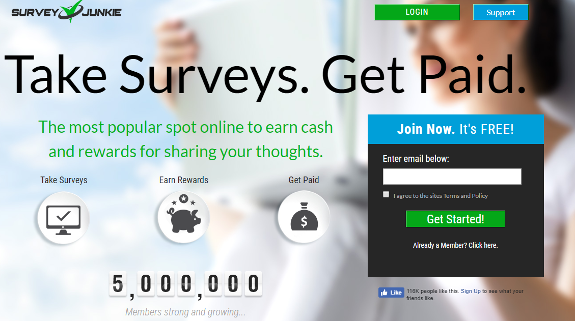 Make Money Online with the Survey Junkie App