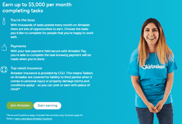 Airtasker - Side Jobs for Extra Money in UK and Australia