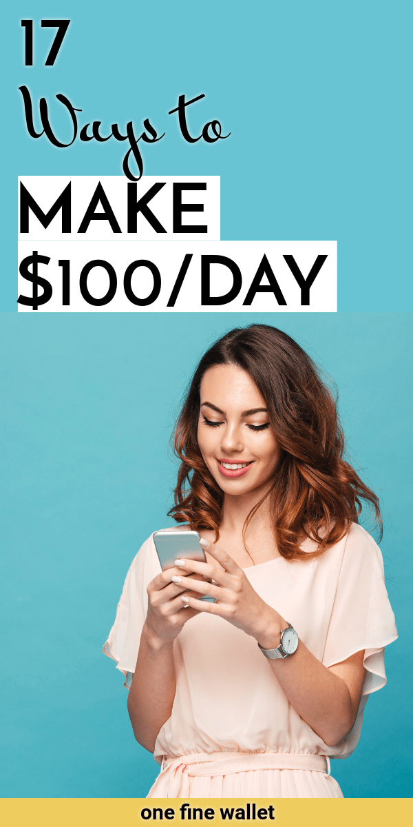 Eager to make $100 dollars a day? Make money from home with these easy work at home jobs