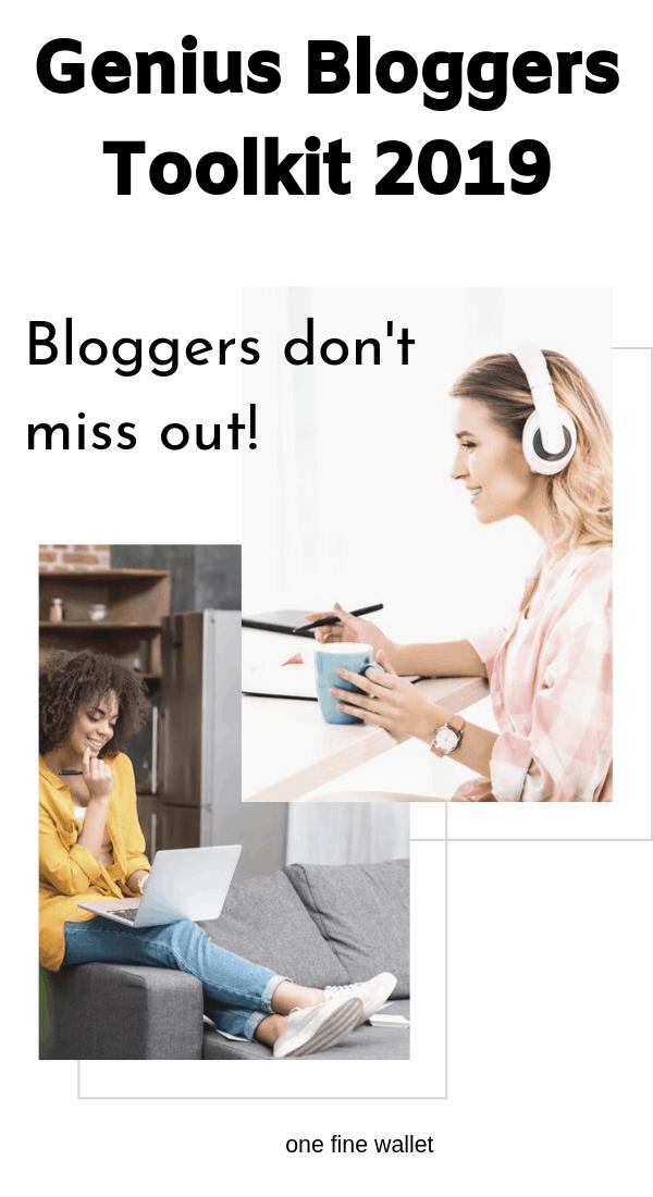 Genius Bloggers Toolkit 2019. Make Money Blogging - Best Blog Resources
