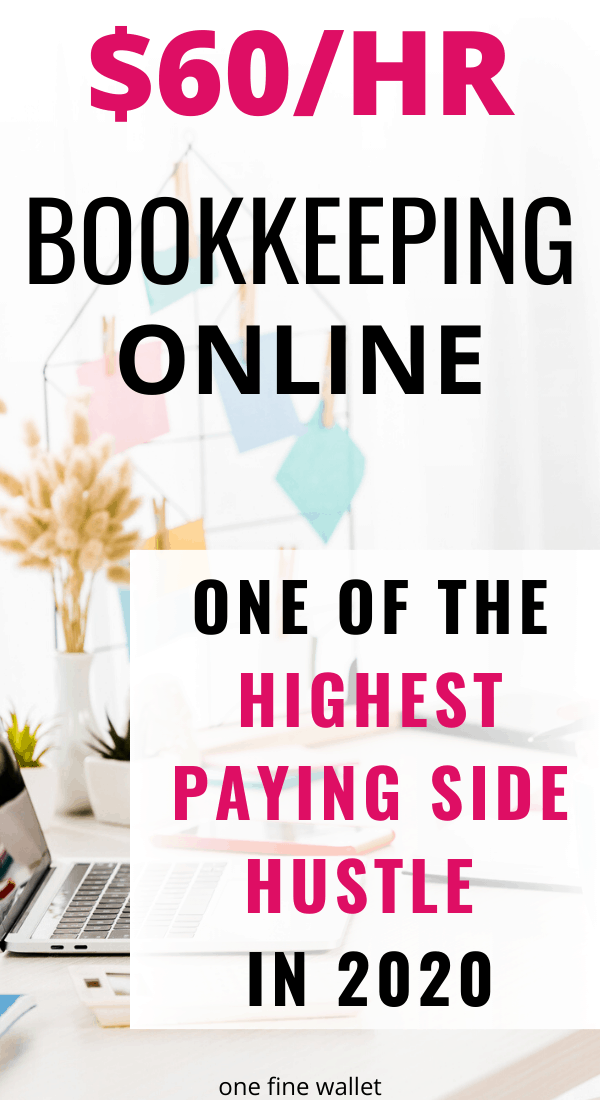 Want to become a bookkeeper online? You can now make money online as a bookkeeper and earn up to $60/hr.