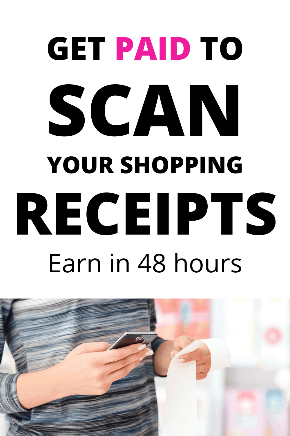Make money on your phone. The ibotta app pays you back to scan your shopping receipts. Make money online. Free money with this cashback app