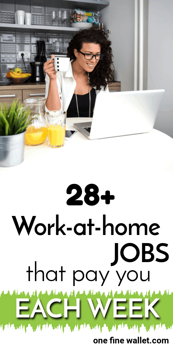 Here are over 28 online jobs that pay weekly. These are the perfect side hustles for those looking to make money on the side