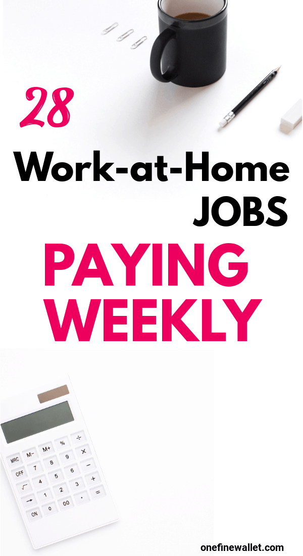 Looking for online jobs that pay weekly? Here are 28 online jobs that pay you through PayPal - some daily and some every week!