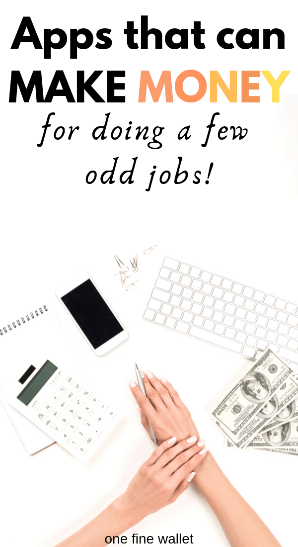 odd jobs app that will help you make money from home. Make money from your phone with these free apps!