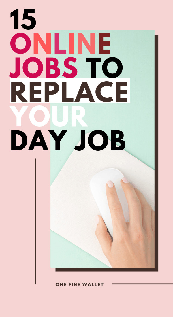 High paying online jobs from home to replace your full-time job. Make money online with these 15 work from home job ideas.