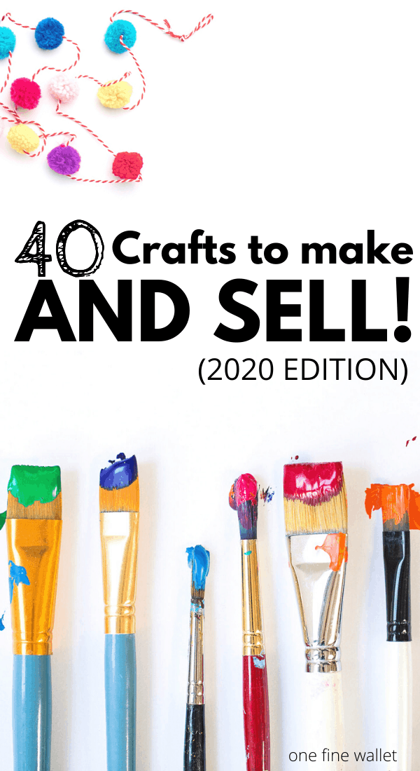 Over 40 Crafts you can make and sell for profit. Including where to sell handmade things locally and how to sell crafts online