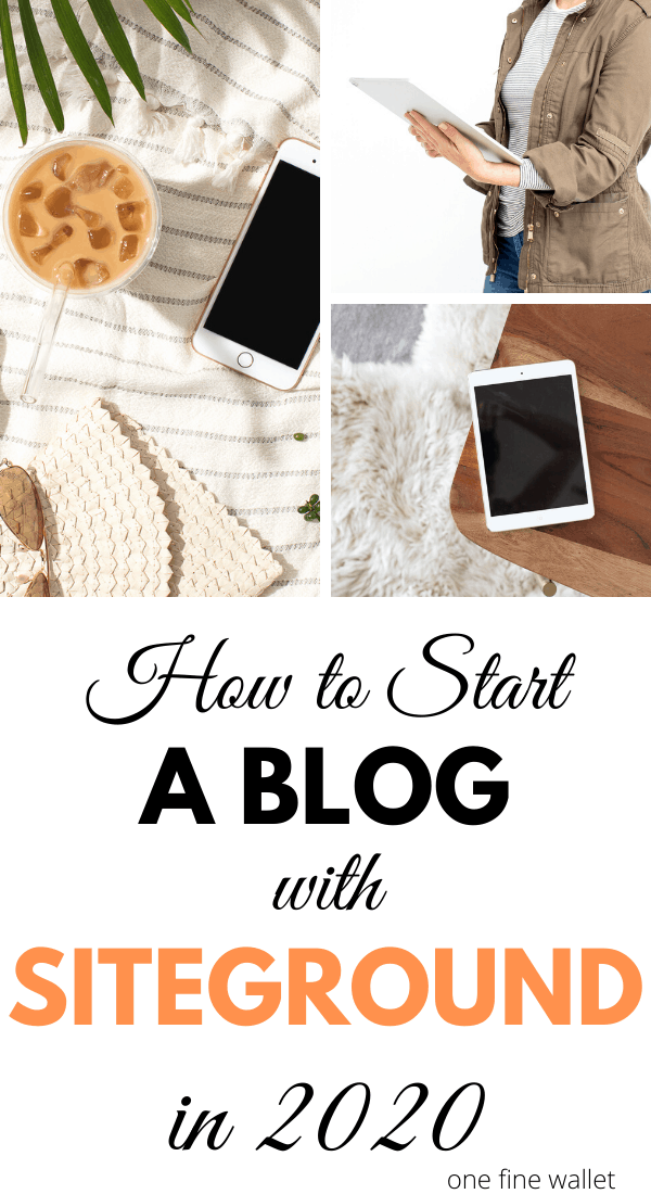 Ready to start a blog in 2020? Here is a step-by-step tutorial on how to get set up with Siteground. Make money blogging in 2020