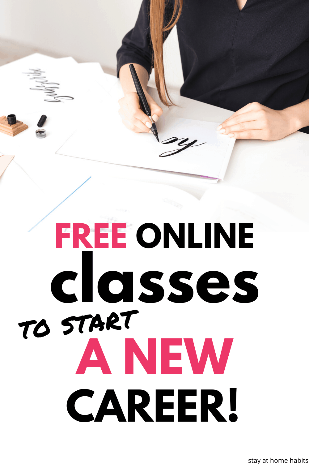 Begin free online classes to start a new career in calligraphy, art, illustration, photography graphic design and more! Make money online with your new side hustle!