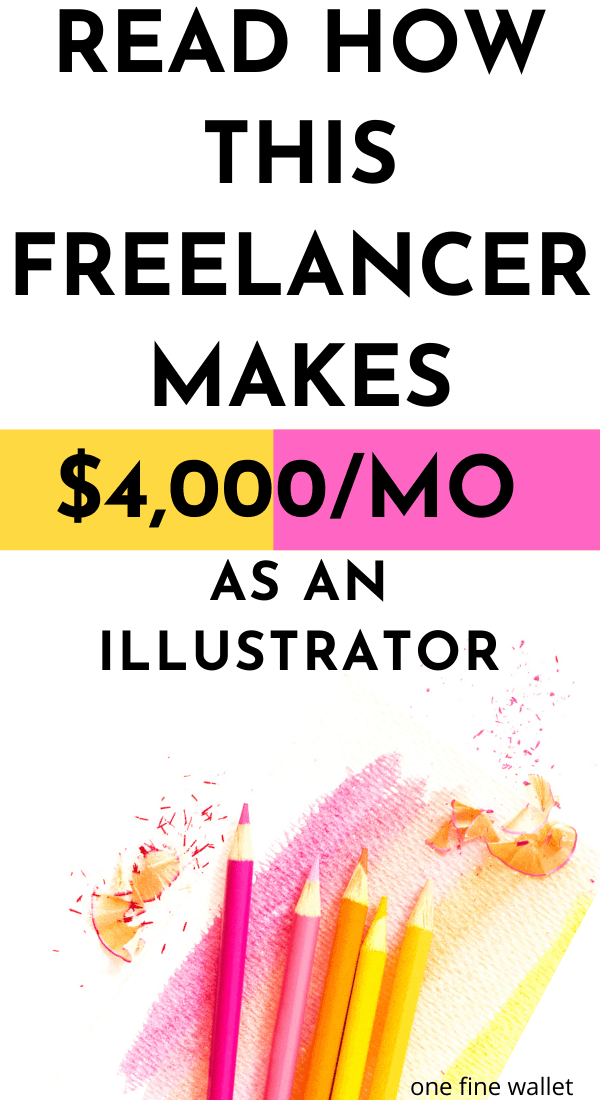 Make money online as a freelance illustrator.