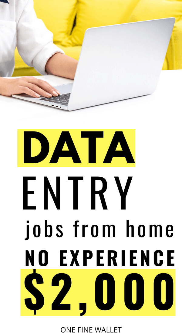 Data entry jobs from home. Make money online with these data entry jobs perfect for beginners looking to make extra cash