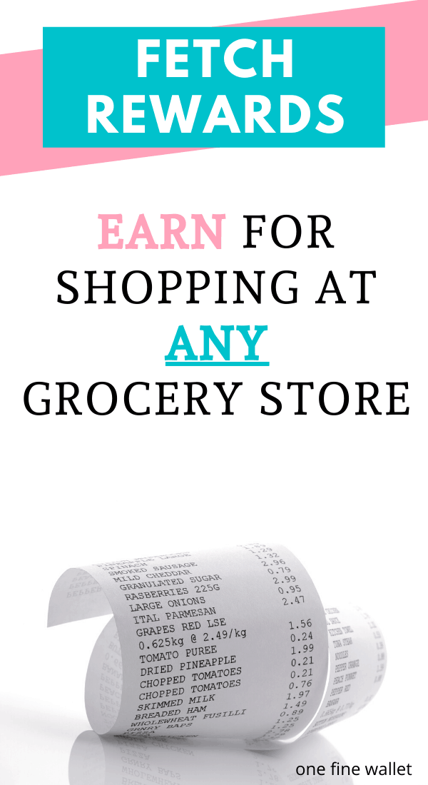 Fetch rewards: Earn money online from your shopping receipts. Frugal living tips