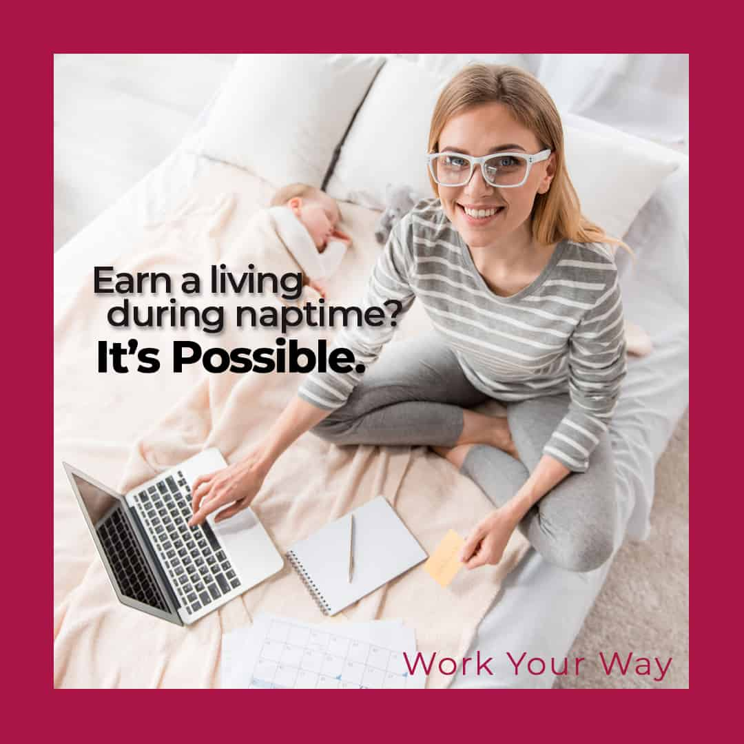 earn money online as a stay at home mom