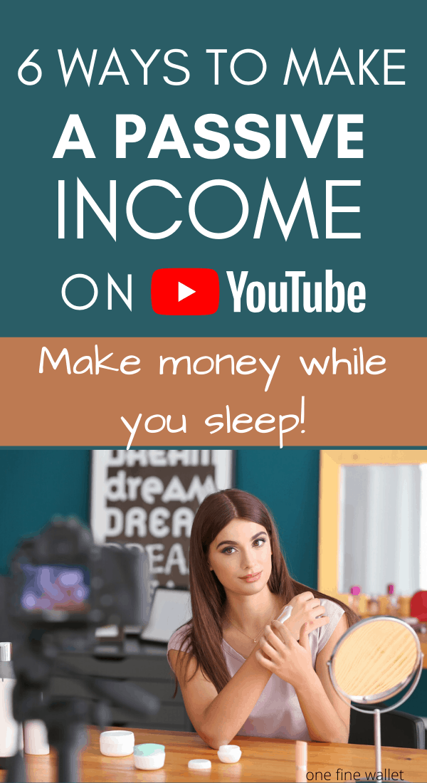 Are you interested in starting a YouTube channel? Here are some passive income ideas to make money with your own YouTube channel. #Sidehustle #youtubetips #youtube #workfromhome #homejobs #workfromhomejobs #money