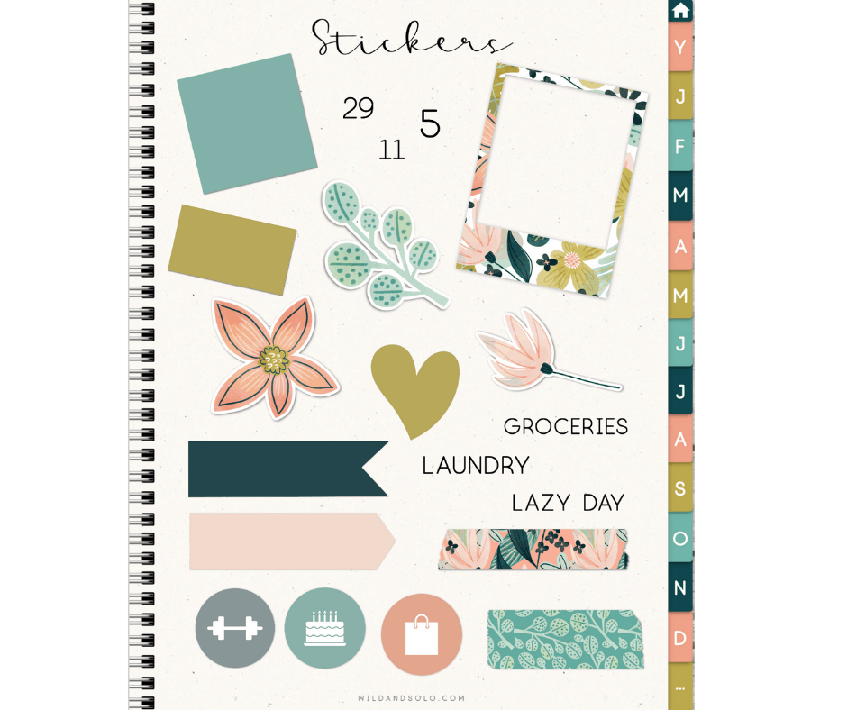 digital stickers for planners